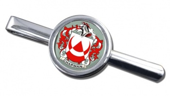 Chapman Coat of Arms Round Tie Clip