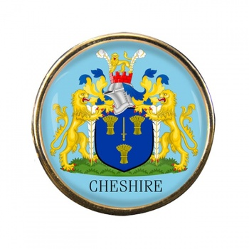 Cheshire (England) Round Pin Badge