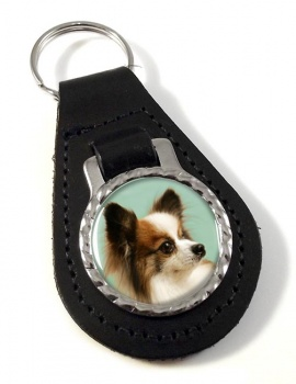 Japanese Chin Leather Key Fob
