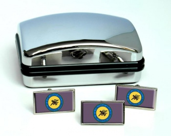 Choctaw Nation (Tribe) Flag Cufflink and Tie Pin Set