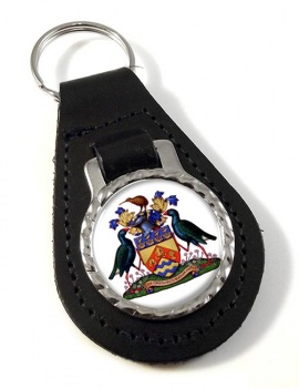 Christchurch (New Zealand) Leather Key Fob