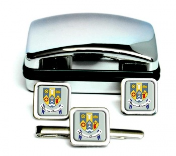 County Clare (Ireland) Square Cufflink and Tie Clip Set
