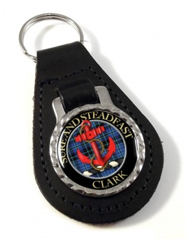 Clark anchor Scottish Clan Leather Key Fob