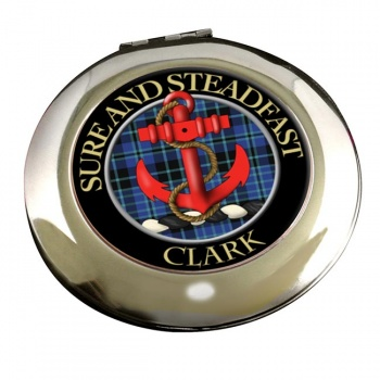 Clark anchor Scottish Clan Chrome Mirror