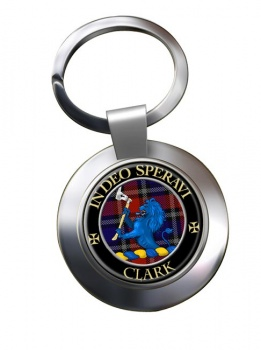 Clark lion Scottish Clan Chrome Key Ring