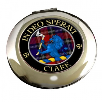 Clark lion Scottish Clan Chrome Mirror