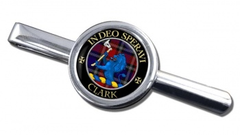 Clark lion Scottish Clan Round Tie Clip