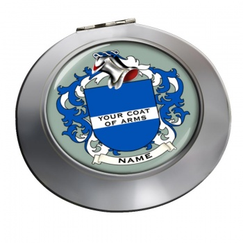Any Name, Personalised Coat of Arms Chrome Mirror