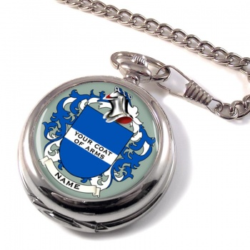 Any Name, Personalised Coat of Arms Pocket Watch