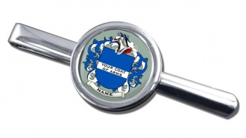 Any Name, Personalised Coat of Arms Round Tie Clip