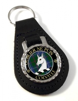 Colville Scottish Clan Leather Key Fob