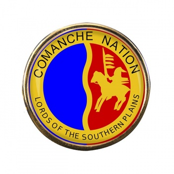 Comanche Nation (Tribe) Round Pin Badge