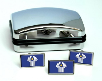 Commonwealth of Independent States (CIS) Flag Cufflink and Tie Pin Set