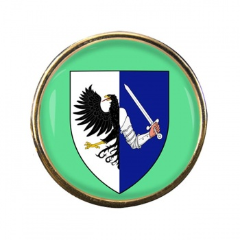 Connaught Connacht (Ireland) Round Pin Badge