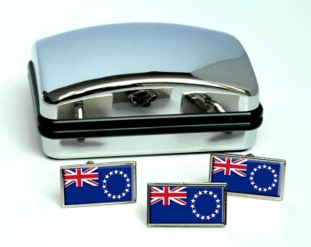Cook Islands (New Zealand) Flag Cufflink and Tie Pin Set