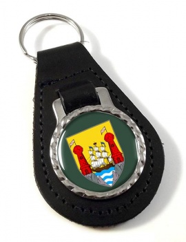 Cork City (Ireland) Leather Key Fob