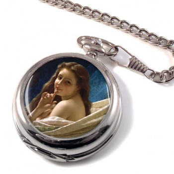 Portrait of a Young Woman by Pierre-August Cot Pocket Watch