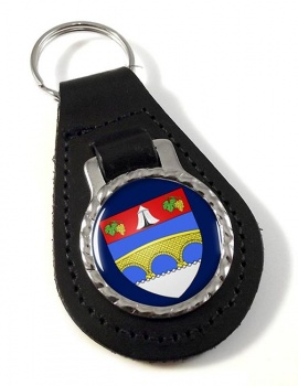 Courbevoie (France) Leather Key Fob