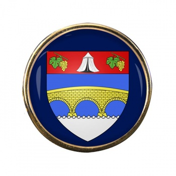 Courbevoie (France) Round Pin Badge