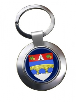 Courbevoie (France) Metal Key Ring