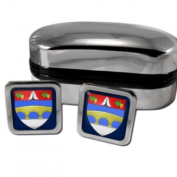 Courbevoie France Square Cufflinks