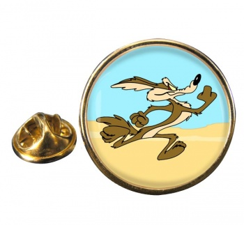 Coyote Round Pin Badge