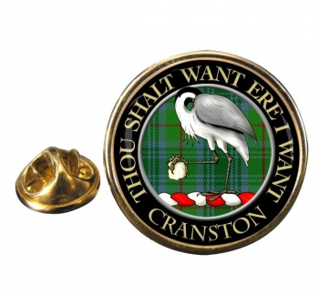 Cranston Scottish Clan Round Pin Badge