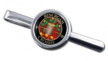 Crosbie Scottish Clan Round Tie Clip