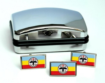 Cundinamarca (Colombia) Flag Cufflink and Tie Pin Set