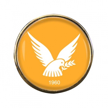 Cyprus Round Pin Badge