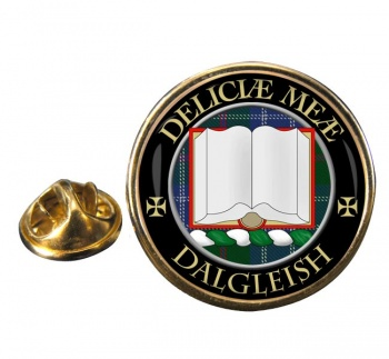 Dalgleish Scottish Clan Round Pin Badge