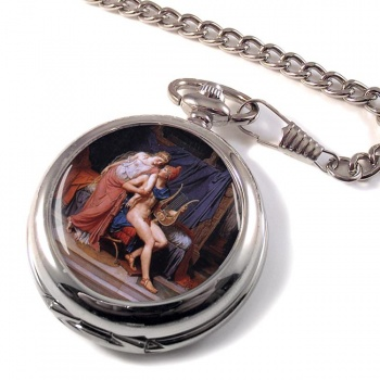Paris et Helen by Jacques Louis David Pocket Watch