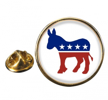 Democrats Round Pin Badge