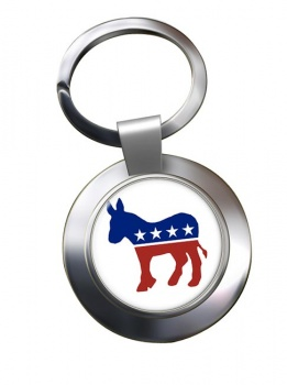 Democrats Chrome Key Ring
