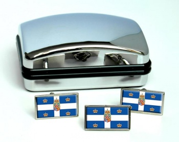 Kingdom of Denmark Flag Cufflink and Tie Pin Set