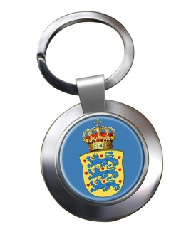 Kingdom of Denmark Metal Key Ring