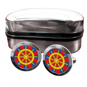 Dharmacakra Wheel of Dharma Round Cufflinks