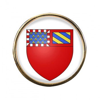 Dijon (France) Round Pin Badge