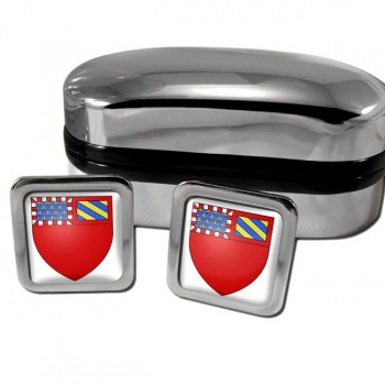 Dijon France Square Cufflinks