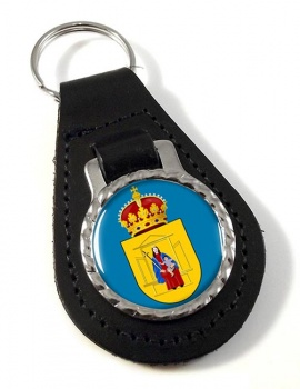 Drenthe (Netherlands) Leather Key Fob