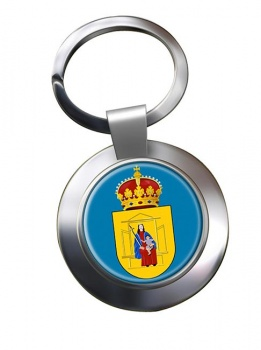 Drenthe (Netherlands) Metal Key Ring