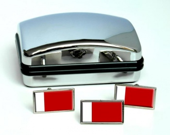 Dubai UAE Flag Cufflink and Tie Pin Set