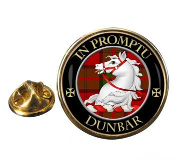 Dunbar Scottish Clan Round Pin Badge