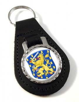 Groot Rijkswapen (Netherlands) Leather Key Fob