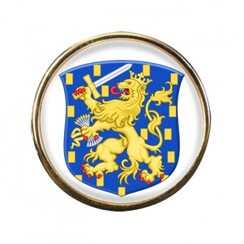 Groot Rijkswapen (Netherlands) Round Pin Badge
