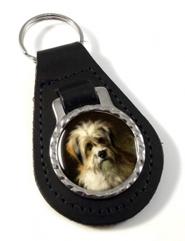 Dandie Dimont Terrier by Thomas William Earl Leather Key Fob