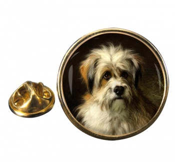 Dandie Dimont Terrier by Thomas William Earl Round Pin Badge