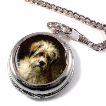 Dandie Dimont Terrier by Thomas William Earl Pocket Watch