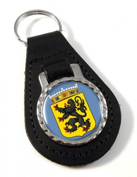 Oost-Vlaanderen (Belgium) Leather Key Fob