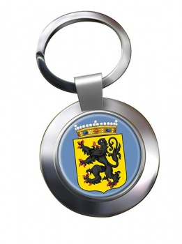 Oost-Vlaanderen (Belgium) Metal Key Ring